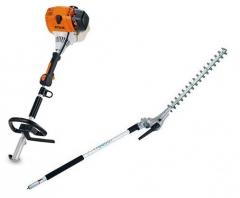 Nůžky na plot mot. na tyči STIHL KM 111R + adaptér HL 145