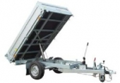 Vozík přívěsný 2,55x1,48 m (990 kg) sklápěcí AGADOS ATHOS 1,5t